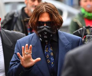 Actor Johnny Depp arriving at the High Court (Victoria Jones/PA)