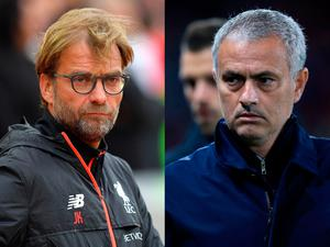 Composite photo of Liverpool manager Jurgen Klopp and Manchester United manager Jose Mourinho, who go head to head on Monday evening when Liverpool face rivals Manchester United at Anfield. PA