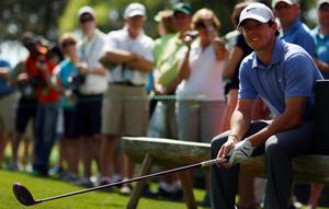 AUGUSTA, GA - APRIL 09:  Rory McIlroy of Northern Ireland waits to play a tee shot during a practice round prior to the start of the 2013 Masters Tournament at Augusta National Golf Club on April 9, 2013 in Augusta, Georgia.  (Photo by Mike Ehrmann/Getty Images)