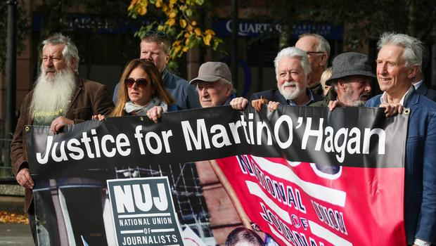 A vigil took place on Tuesday 28 September to remember Martin O'Hagan, a former journalist with the Sunday World. Picture Matt Mackey / Press Eye.
