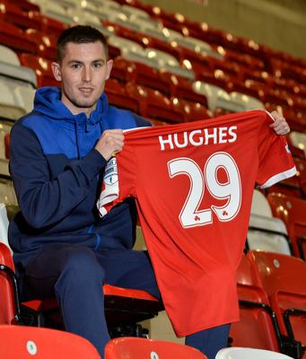 New goal: Daniel Hughes is out to fire Cliftonville's title bid