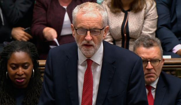 Labour Party leader Jeremy Corbyn speaks in the House of Commons. Photo credit: House of Commons/PA Wire