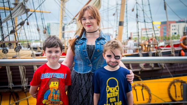 Lucas , Emma and Elias Ross  The maritime festival begins in Belfast on June 16th 2017 (Photo by Kevin Scott / Belfast Telegraph)