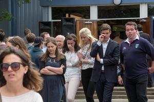 People gather for a mass at UCD this afternoon for the young Irish students who lost thir lives in the Berkeley tragedy.  Pic:Mark Condren 19.6.2015