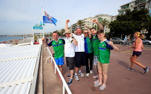 Northern Ireland fans arrive on the seafront near Promenade des Anglais, Nice, France. PA
