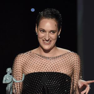 Phoebe Waller-Bridge accepts the award for outstanding performance by a female actor in a comedy series (Chris Pizzello/AP)