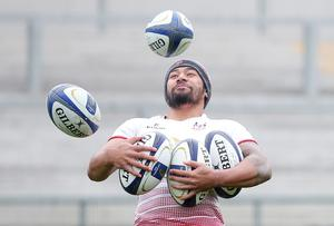 Charles Piutau at the Ulster Rugby captain's run ahead of their Saturday night European Rugby Champions Cup game against the Exeter Chiefs at Kingspan Stadium. Picture by Jonathan Porter/Press Eye