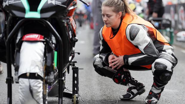 PACEMAKER, BELFAST, 15/5/2018: NW200 newcomer Nadia Schoots  during the opening practice of the 2018 Vauxhall International North West 200. PICTURE BY STEPHEN DAVISON
