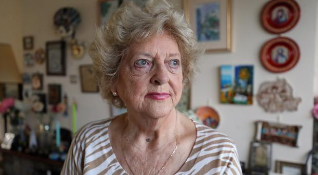 Pensioner Grainne Kenny at her home in Dun Laoghaire (Niall Carson/PA)