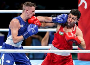 Big fight: Brendan Irvine (left) in action at the Rio Olympics in 2016