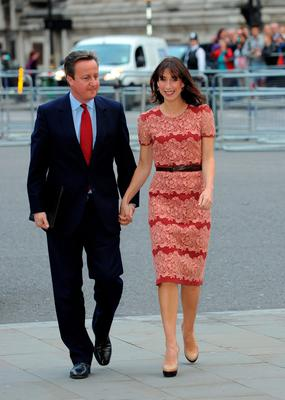 Prime Minister David Cameron and wife Samantha Cameron attend Service on the eve of the centenary of The Battle of The Somme at Westminster Abbey on June 30, 2016 in London, England.  (Photo by Eamonn M. McCormack/Getty Images)