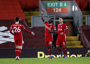 Sadio Mane opened the scoring in the first half (Clive Brunskill/PA)
