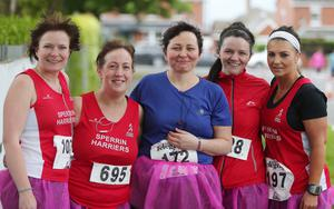 Northern Ireland- 23rd May 2014 Mandatory Credit - Photo-Jonathan Porter/Presseye.  Belfast Telegraph RunHer 10k coastal challenge from Seapark to Crawfordsburn.  Ladies from Sperrin Harriers pictured before the race at Seapark.