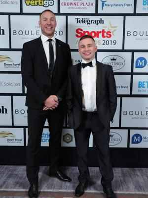 Press Eye - Belfast - Northern Ireland - 20th January  2020   Stephen Ferris and Carl Frampton pictured at the 2019 Belfast Telegraph Sport Awards at the Crowne Plaza Hotel in Belfast.  Photo by Kelvin Boyes / Press Eye.