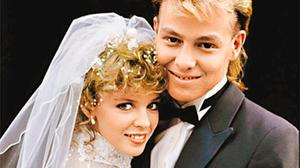 Soap escapism: Kylie Minogue and and Jason Donovan were familiar faces in Neighbours
