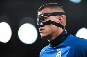 Fenerbahce's Slovakian defender Martin Skrtel warms up before the UEFA Europa League group A football match between Manchester United and Fenerbahce at Old Trafford in Manchester, north west England, on October 20, 2016. AFP/Getty Images