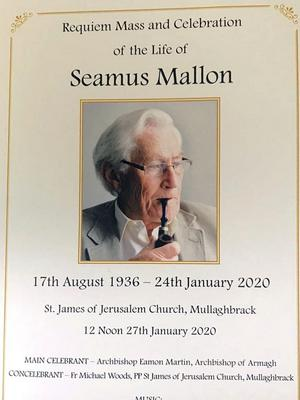 The funeral of Seamus Mallon is taking place on Monday. Photo by Jonathan Porter / Press Eye