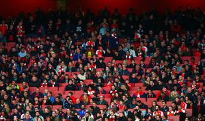 LONDON, ENGLAND - APRIL 21:  Empty seats are seen in the stands during the Barclays Premier League match between Arsenal and West Bromwich Albion at the Emirates Stadium on April 21, 2016 in London, England.  (Photo by Clive Rose/Getty Images)