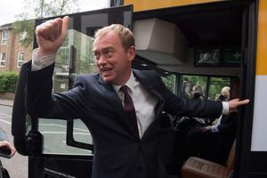 Liberal Democrats leader Tim Farron visits Twickenham during the final day of the General Election campaign trail.  PRESS ASSOCIATION Photo. Picture date: Wednesday June 7, 2017. See PA ELECTION stories. Photo credit should read: Victoria Jones/PA Wire