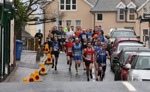 Press Eye - Kilbroney Park - Belfast Telegraph Run Forest Run Race - 2nd January 2016 Photograph By Declan Roughan  The 5th Born2Run Belfast Telegraph Run Forest Run at Kilbroney Park, Rostrevor, Co Down.  Peter	Williamson	Belfast leads the runners at the start.