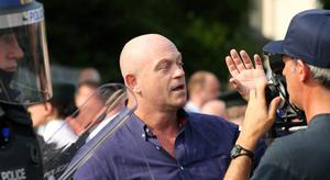 TV personality Ross Kemp at the outward leg of the north Belfast feeder parade as it passes the Nationalist Ardoyne shops in north Belfast Picture by Kelvin Boyes / Press Eye.