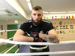 Belfast super featherweight Anthony Cacace  during a training session at the Emerald gym in West Belfast.