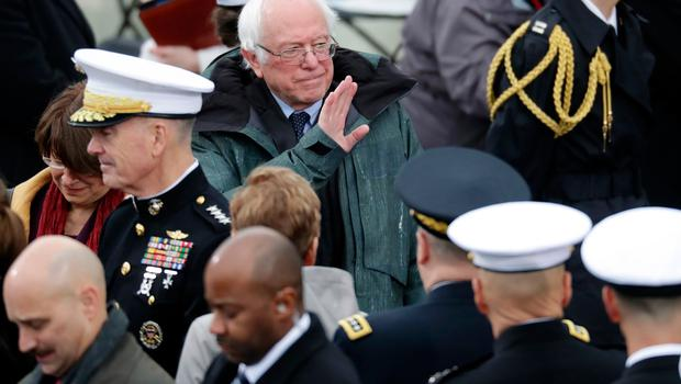Sen. Bernie Sanders (D-VT) arrives on the West Front of the U.S. Capitol on January 20, 2017 in Washington, DC. In today's inauguration ceremony Donald J. Trump becomes the 45th president of the United States.  (Photo by Chip Somodevilla/Getty Images)