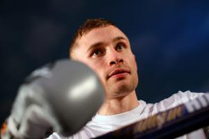 MANCHESTER, ENGLAND - FEBRUARY 23:  Carl Frampton takes part in a public work out at Intu Trafford Centre on February 23, 2016 in Manchester, England.  (Photo by Jan Kruger/Getty Images)