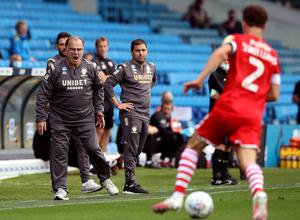 Leeds manager Marcelo Bielsa watches on from the sideline (Martin Rickett/PA)