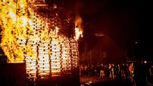 Eleventh night celebrations take place at Pitt Park in east Belfast - stock picture. (Photo by Kevin Scott for Belfast Telegraph)
