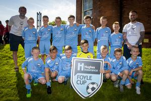Newtownards and District Under-12s pictured before Tuesday's Hughes Insurance Foyle Cup parade at Magee College.