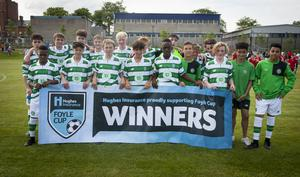 Glasgow Celtic - 1-0 winners over Donegal Schoolboys at Brooke Park in Tuesday night's Hughes Insurance Foyle Cup clash. FC02-T2-10 (Photos: Jim McCafferty Photography)