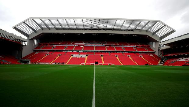 "tA general view of Anfield following the opening of the new Main Stand, Liverpool. PRESS ASSOCIATION Photo. Picture date: Friday September 9, 2016. Photo credit should read: Peter Byrne/PA Wire. RESTRICTIONS: EDITORIAL USE ONLY No use with unauthorised audio, video, data, fixture lists, club/league logos or ""live"" services. Online in-match use limited to 75 images, no video emulation. No use in betting, games or single club/league/player publications."