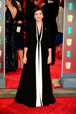 Kristin Scott Thomas attending the EE British Academy Film Awards held at the Royal Albert Hall, Kensington Gore, Kensington, London.  PRESS ASSOCIATION Photo. Picture date: Sunday February 18, 2018. See PA Story SHOWBIZ Bafta. Photo credit should read: Ian West/PA Wire.