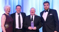 Snooker legend Dennis Taylor was given the Hall of Fame award in 2016. It was presented by Steve Parr, Managing Director of Parr Group, snooker star Joe Swail and Tyrone Manager Mickey Harte.
