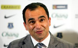 LIVERPOOL, ENGLAND - JUNE 5: New Everton manager Roberto Martinez speaks during the Everton FC press conference at Goodison Park on June 5, 2013 in Liverpool, England. (Photo by Paul Thomas/Getty Images)