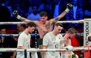Tyrone Mckenna (Black waistband) wins v Anthony Upton at the SSE Arena , Belfast on April 21st 2018 (Photo by Kevin Scott / Belfast Telegraph)
