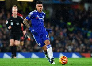 Chelsea's Brazilian striker Kenedy passes the ball during the English Premier League football match between Chelsea and West Bromwich Albion at Stamford Bridge in London on January 13, 2016. The game finished 2-2. AFP PHOTO / BEN STANSALL  RESTRICTED TO EDITORIAL USE. NO USE WITH UNAUTHORIZED AUDIO, VIDEO, DATA, FIXTURE LISTS, CLUB/LEAGUE LOGOS OR 'LIVE' SERVICES. ONLINE IN-MATCH USE LIMITED TO 75 IMAGES, NO VIDEO EMULATION. NO USE IN BETTING, GAMES OR SINGLE CLUB/LEAGUE/PLAYER PUBLICATIONS.BEN STANSALL/AFP/Getty Images