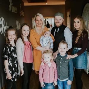 Family unit: Ryan Tracey, wife Catherine and kids