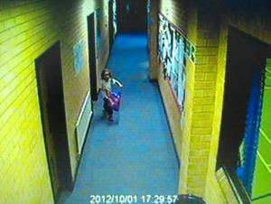 Handout Dyfed-Powys Police image of April Jones in Leisure Centre on October 1, 2012. Former slaughterhouse worker Mark Bridger has been found guilty of abducting and murdering the schoolgirl