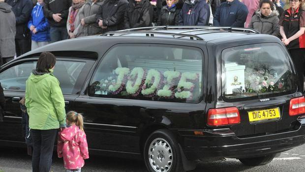 Alan Lewis- PhotopressBelfast.co.uk       24-3-2016 Today's funerals in Londonderry of the family of five who drowned at Buncrana pier tragedy at the weekend in Donegal.