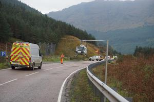 A 60-mile diversion has been put in place (BEAR Scotland/PA)