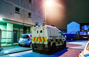 Police at the scene of an incident in the Carlisle Road area of north Belfast on November 20th 2020 (Photo by Kevin Scott for Belfast Telegraph)