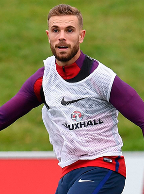 England's midfielder Jordan Henderson takes part a training session. Photo: Getty Images