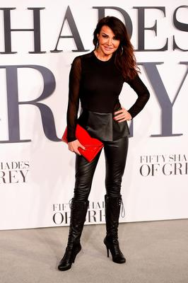 "LONDON, ENGLAND - FEBRUARY 12: Lizzie Cundy attends the UK Premiere of ""Fifty Shades Of Grey"" at Odeon Leicester Square on February 12, 2015 in London, England.  (Photo by Ian Gavan/Getty Images)"
