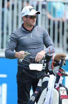 Press Eye - Belfast - Northern Ireland - 8th July 2017   Day three of the Dubai Duty Free Irish Open Hosted by the Rory Foundation at Portstewart Golf Club, Co.Derry / Co. Londonderry, Northern Ireland.  Rain Fox starts round 3 on the 1st tee  Picture by Matt Mackey / presseye.com