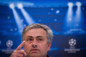 MADRID, SPAIN - APRIL 29:  Coach Jose Mourinho of Real Madrid CF answers to questions from the media during a press conference ahead of the UEFA Champions League Semifinal second leg match between Real Madrid and Borussia Dortmund at the Valdebebas training ground on April 29, 2013 in Madrid, Spain.  (Photo by Gonzalo Arroyo Moreno/Bongarts/Getty Images)