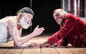 Kevin R McNally as King Lear and Burt Caesar as Gloucester (Marc Brenner)