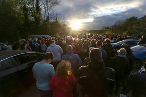 PressEye - Belfast - Northern Ireland - 27th April 2017  Hundreds gathered at the Tandragee 100 course, to say 'Farewell to Dario Cecconi'.  Picture: Philip Magowan / PressEye