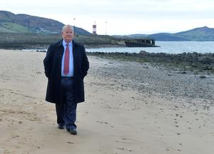 Francis Crawford Who raised the alarm,  at the Scene at the Pier in Buncrana Co Donegal, after Five people, including children, have died after a car went off a pier. Picture Colm Lenaghan/  Pacemaker